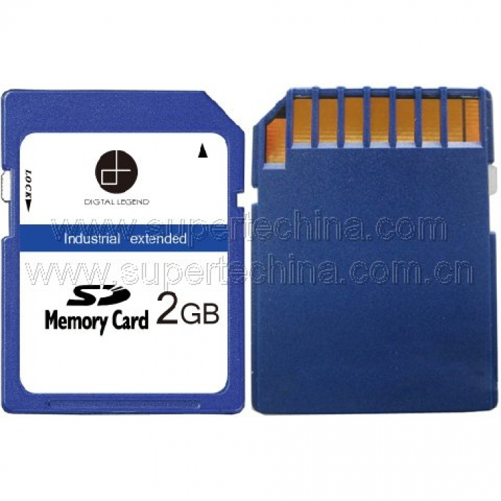 Industrial extended temperature SD card